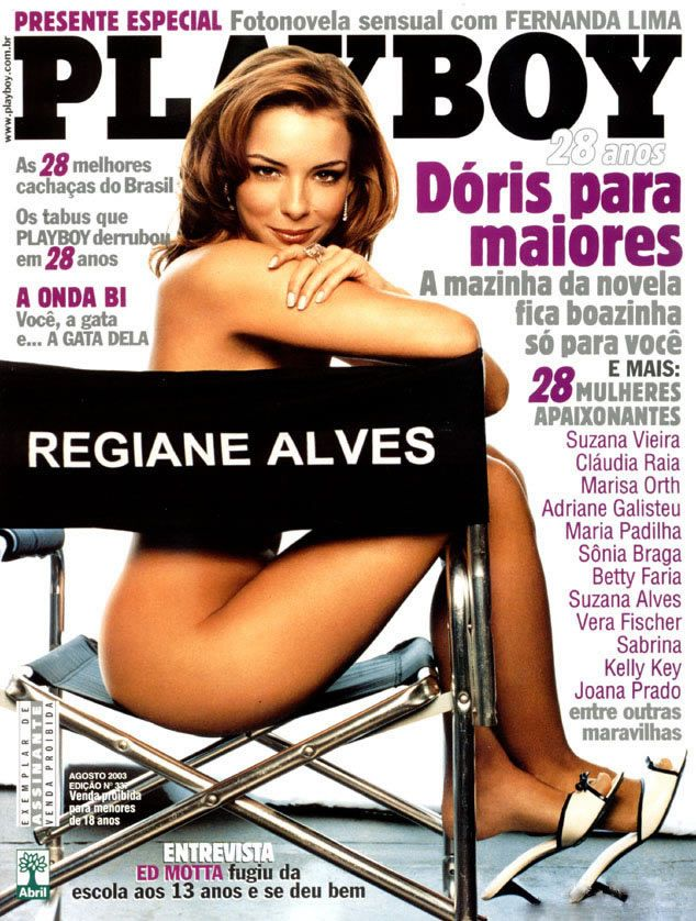 capa-revista-playboy-Maryeva Oliveira -Agosto-2003-editora-abril