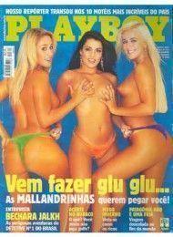 00-capa-revista-playboy-Sara, Elaine e Fabiana As Mallandrinhas-junho-2001-editora-abril-