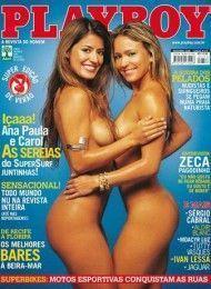 Ana Paula e Carol peladas na Playboy Novembro de 2006